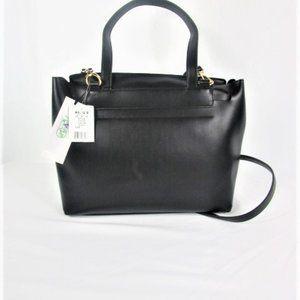 NWT- Emperia Black Satchel/Handbag-Vegan